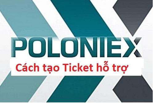 gửi ticket hỗ trợ trên sàn poloniex