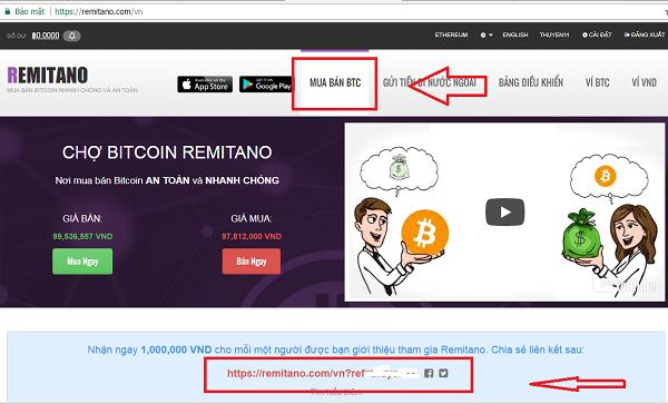 kiếm tiền với remitano.com