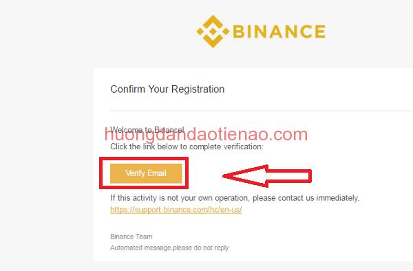 Xác minh tài khoản binance