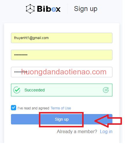 Đăng ký bibox