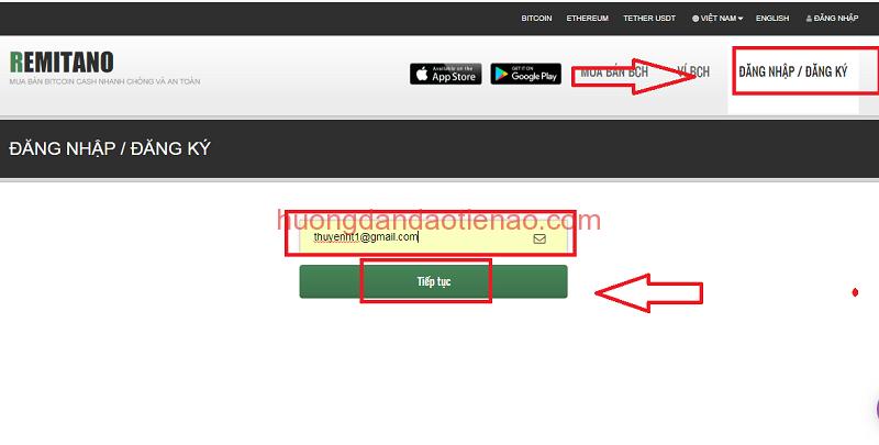 Hướng dẫn đăng ký tạo mới tài khoản với Remitano