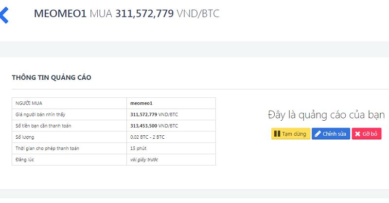 Hướng dẫn tạo quảng cáo mua coin với Aliniex