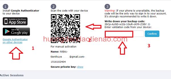 Hướng dẫn xác minh 2 bước 2FA với sàn giao dịch HitBTC