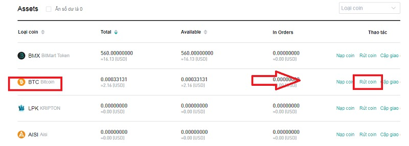 Hướng dẫn rút Bitcoin từ Bitmart về Remitano