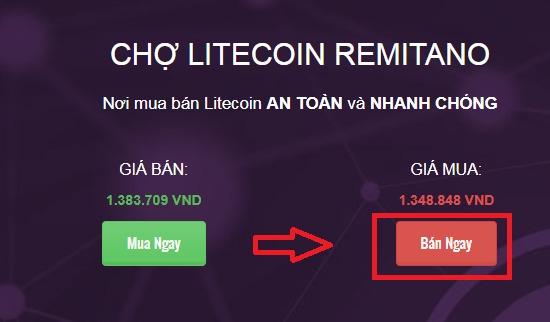 Hướng dẫn bán LiteCoin (LTC)