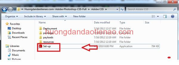 hướng dẫn cài đặt Adobe Photoshop cs5