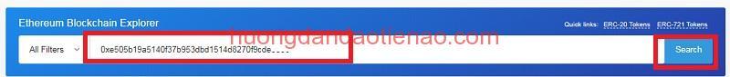 Hướng dẫn kiểm tra số dư Token ERC trong ví ETH