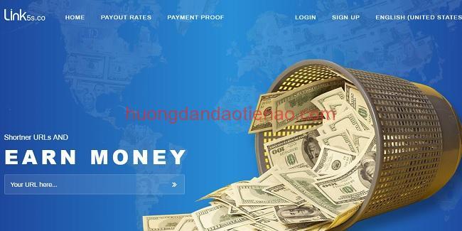 Hướng dẫn kiếm tiền bằng link rút gọn với Link5s